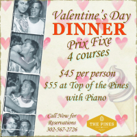 Valentine's Day 4 Course Dinner!